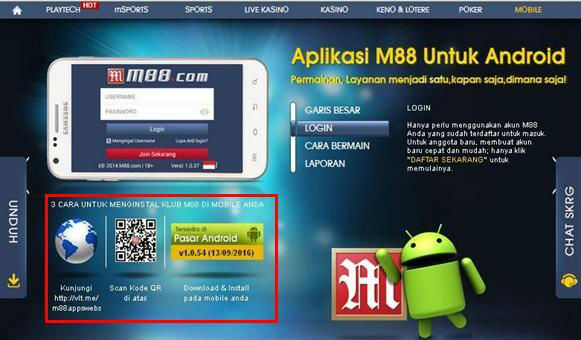 Download M88 Mobile Android